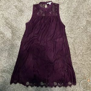 Medium Purple Lace Dress Miami Brand PreOwned